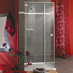 Lakes Italia Frameless Square Shower Enclosure & Tray. Left Handed. 750mm.