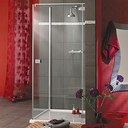Lakes Italia Frameless Square Shower Enclosure & Tray. Right Handed. 800mm.