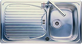 Euroline 1.0 bowl stainless steel kitchen sink. Reversible. Leisure ...