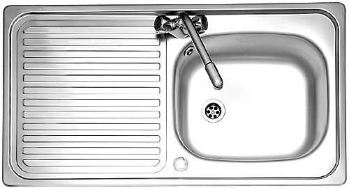 Leisure Sinks Linear 1.0 bowl stainless steel kitchen sink. Reversible. Waste kit supplied