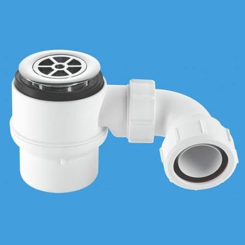 """McAlpine Shower Traps 1 1/2"""" x 50mm Water Seal Shower Trap, 70mm Flange."""