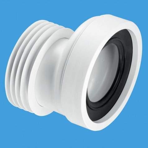 """McAlpine Plumbing WC 4""""/110mm Offset Rigid Toilet Pan Connector."""