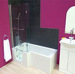 Mantaleda Savana Walk In Shower Bath With Left Hand Door (Whirlpool).