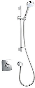 Mira Adept Concealed Thermostatic Shower Valve With Slide Rail Kit (Chrome).