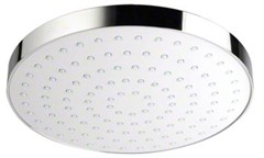 Mira Beat Shower Head (200mm, White / Chrome).