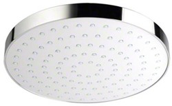 Mira Beat Shower Head (250mm, White / Chrome).