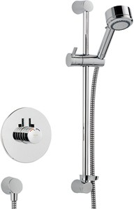 Mira Miniduo Concealed Thermostatic Shower Valve With Shower Kit (Chrome).