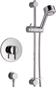 Mira Silver Concealed Thermostatic Shower Valve With Shower Kit (Chrome).
