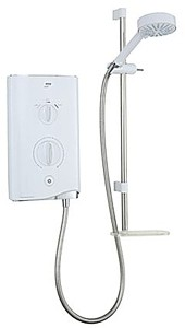 Mira Electric Showers Mira Sport Thermostatic 9.8kW in white & chrome.