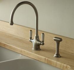 Perrin & Rowe Phoenician Kitchen Tap With Rinser (Pewter).