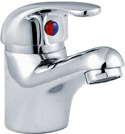 Crown D-Type Basin Mixer Tap With Pop Up Waste (Chrome).