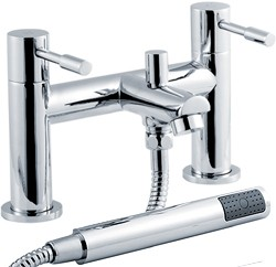Crown Series 2 Bath Shower Mixer Tap With Shower Kit (Chrome).