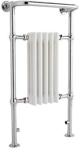 Crown Radiators Harrow Traditional Heated Towel Rail. 540x965mm. 1875 BTU.
