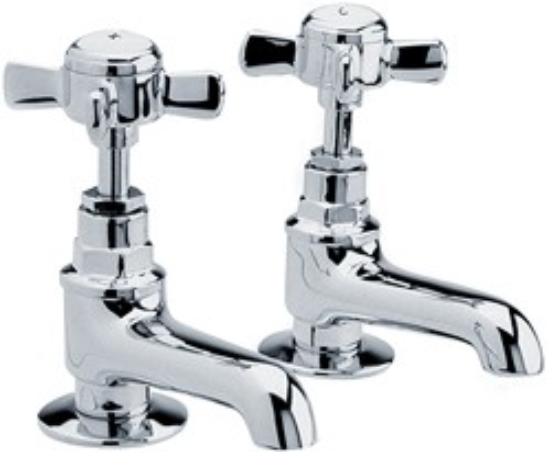 Crown Traditional Bath Taps (Chrome).