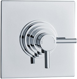 Hudson Reed Showers Dual Concealed Thermostatic Shower Valve (Chrome).