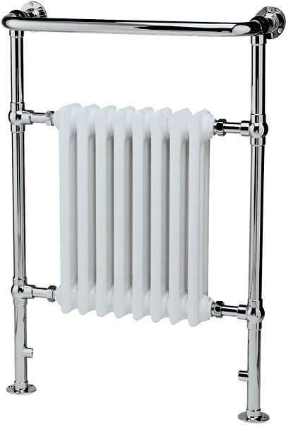 Crown Radiators Harrow Traditional Heated Towel Rail. 673x965mm. 3520 BTU.