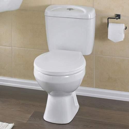 Crown Ceramics Melbourne Toilet With Push Flush Cistern & Soft.