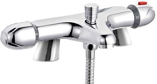 Crown Taps Thermostatic Bath Shower Mixer Tap (Chrome).