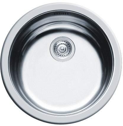 Pyramis Round Kitchen Sink & Waste. 450mm Diameter.
