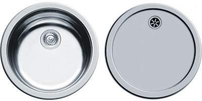 Pyramis Round Kitchen Sink & Drainer With Wastes. 450mm Diameter.