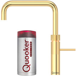 Quooker Fusion Square Boiling Water Kitchen Tap. PRO3 (Gold).