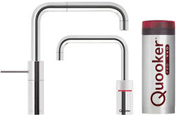 Quooker Nordic Square Twintaps Instant Boiling Tap. PRO3 (Polished Chrome).