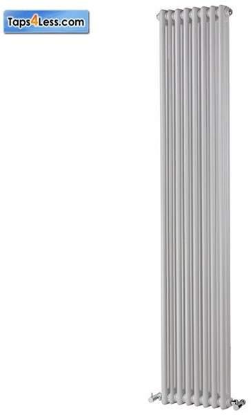 Reina Radiators Colona Vertical 2 Column Radiator (White). 1800x290mm.
