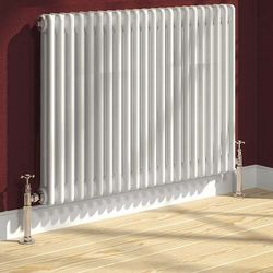 Reina Radiators Colona 2 Column Radiator (White). 600x605mm.