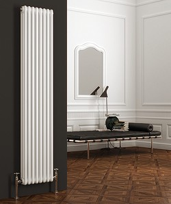 Reina Radiators Colona Vertical 3 Column Radiator (White). 1800x380mm.