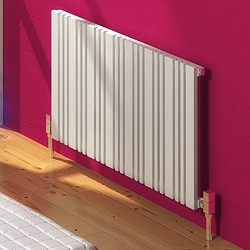Reina Radiators Bonera Horizontal Radiator (White). 852x550mm.
