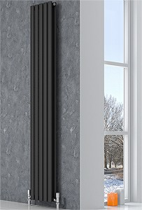Reina Radiators Neva Vertical Double Radiator (Anthracite). 413x1800mm.