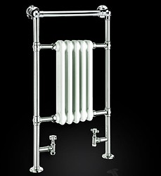 Reina Radiators Oxford Traditional Towel Radiator (Chrome). 538x960mm.