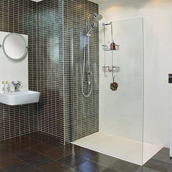 Roman Collage Wet Room Glass Screen With Wall Bracket (700mm).