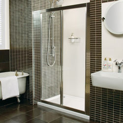 Roman Collage Bi-Fold Shower Door (760mm, Silver). C2V7613S.