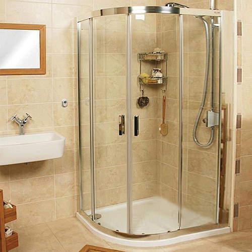 Roman Embrace Offset Quadrant Shower Enclosure (900x800mm, Left Hand).