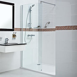 Roman Embrace Curved Wetroom Shower Screen (800x2000mm, 8mm).