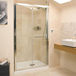 Bi Fold Shower Door 1200mm Silver Frame Roman Embrace Ro Ev1213s