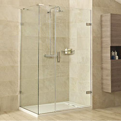 Roman Liber8 Shower Enclosure With Hinged Door (1400x900, Chrome).