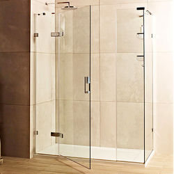 Roman Liber8 Shower Enclosure With Hinged Door (1200x800, Chrome).