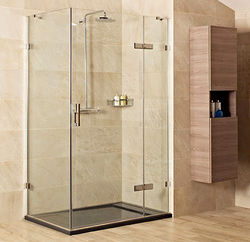 Roman Liber8 Shower Enclosure With Hinged Door (1000x1000mm, Chrome).