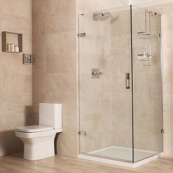 Roman Liber8 Frameless Shower Enclosure With Hinged Door (760x900mm).