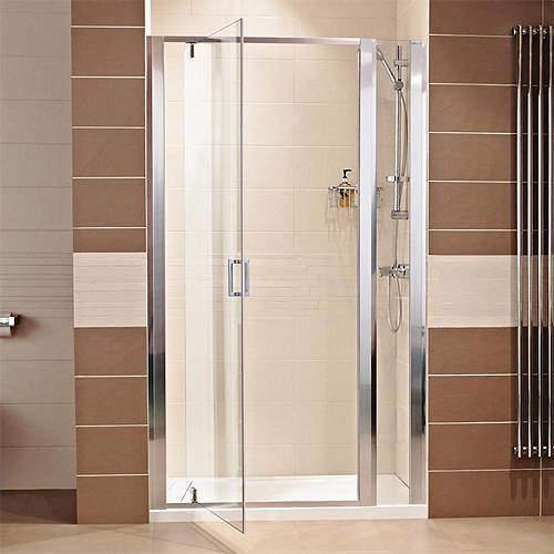 Roman Lumin8 760 Pivot Shower Door With 300 In-Line Panel (1060mm).
