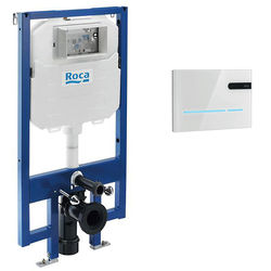 Roca Frames Compact Frame, Dual Cistern & EP2 Electronic Panel (White).