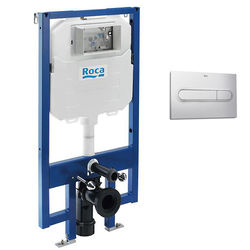 Roca Frames In-Wall DUPLO Compact Tank & PL1 Dual Flush Panel (Grey).