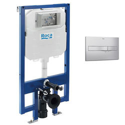 Roca Frames In-Wall DUPLO Compact Tank & PL2 Dual Flush Panel (Grey).