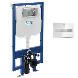 Roca Frames In-Wall DUPLO Compact Tank & PL2 Dual Flush Panel (Combi).