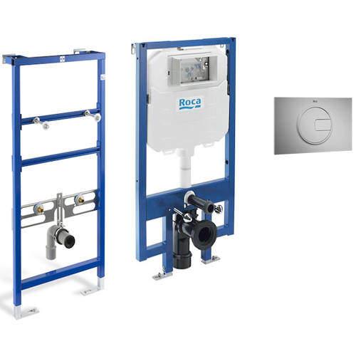 Roca Frames Basin & WC Frame With PL4 Dual Flush Panel (Grey).