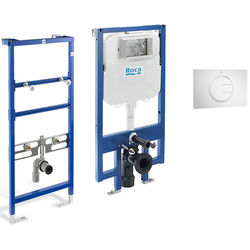 Roca Frames Basin & WC Frame With PL4 Dual Flush Panel (White).