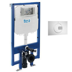 Roca Frames In-Wall DUPLO Compact Tank & PL4 Dual Flush Panel (Combi).
