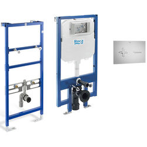 Roca Frames Basin & WC Frame With PL6 Dual Flush Panel (Grey).